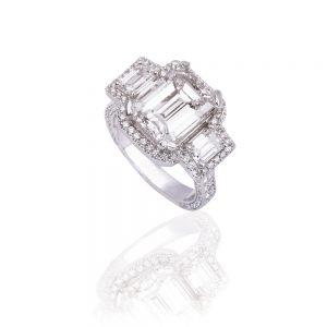 Diva Ring Diamond EmCut 01 1