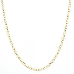 hammered circle chain 18