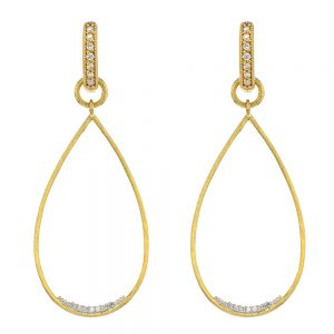 provence large open pear yellow gold earring charms